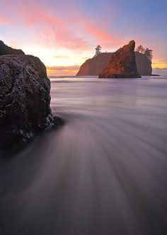 What's Around The Corner ? Ruby Beach, Olympic National Park by kevin mcneal, via Flickr