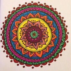 This mandala was completed on 12th June using Sharpies from Indian Summers. I must have forgotten to Pin it at the time!
