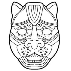 aztec mask template - st joan of arc coloring page vacation bible school