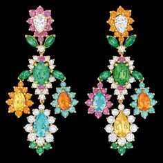 "Cher Dior - ""Exquise Tourmaline Paraïba"" earrings"