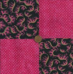 Pink Swirl Dots 4 inch Cotton Fabric Quilt Squares Block ms1 #SpotMore