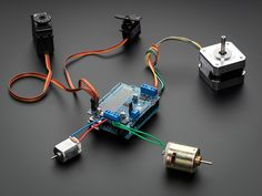 Adafruit Motor/Stepper/Servo Shield for Arduino v2 Kit - v2.3