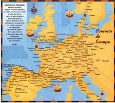 Major Pilgrimage Routes of Western Europe