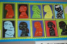 Student Silhouettes - a good first week activity