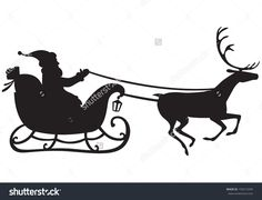 stock-vector-silhouette-of-santa-claus-riding-a-sleigh-pulled-by-reindeer-and-carries-a-sack-of-gifts-156515594.jpg (1500×1150)