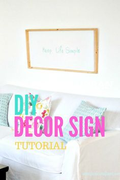 Make a DIY wood sign for your family home decor. This wood sign idea is both cheerful and bright, while the Keep Life Simple saying is perfect for the long warm days of Summer. #faeriesandfauna #woodsigns #diywoodcrafts #sayings #walldecor #diywallart #diyhomedecor