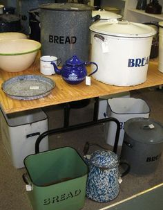Enamel Bread Dough Containers