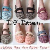 Crochet Mary Jane Slippers - via @Craftsy