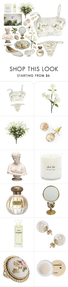 """""""does she know that we bleed the same"""" by ladykrystal ❤ liked on Polyvore featuring Pier 1 Imports, Gabriella Rocha, Tocca, Chanel, Miss Selfridge and Korres"""