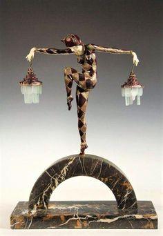 Marcel Andre Bouraine Lampe Art Deco, Art Deco Lamps, Art Deco Lighting, Lighting Ideas, Marcel, Bronze, Art Nouveau, Art Pierre, Art Deco Furniture