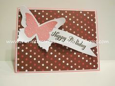 A butterfly birthday card with polkadots :)