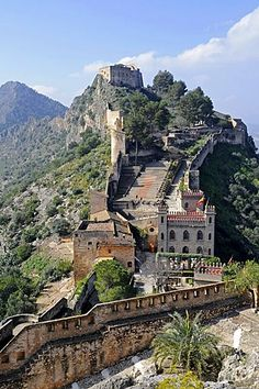Castle, Xativa (Jativa), Valencia, Spain, Europe