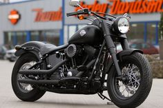 #Harley-Davidson Softail Slim with #Thunderbike Drilled Aircleaner #Motorcycle