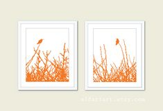Hummingbirds and Branches  Digital Print Set  by AldariArt on Etsy, $24.00