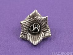 Fine Silver .999 Thai Hill Tribe Handmade 3D от Beadspoint, $10.58