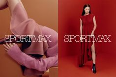 Adriana Lima for Sportmax's Fall 2017 Campaign. Photographed by Roe Ethridge