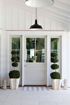 Board and batten door design entry beach style with topiary topiary