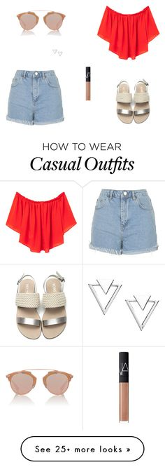 """""""Untitled #6662"""" by mie-miemie on Polyvore featuring MANGO, Topshop, Christian Dior, NARS Cosmetics and Nadri"""