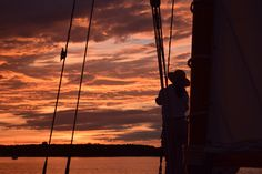 roamntic sunset sail, selina II, st michaels md, chesapeake bay