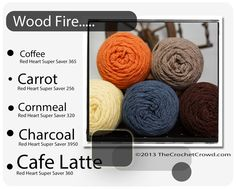 Red Heart Super Saver Color Mix: Wood Fire