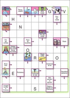 Kids Crossword Puzzles, French Classroom, Free Printables, Teaching, Activities, Blog, Conte, Adhd, France
