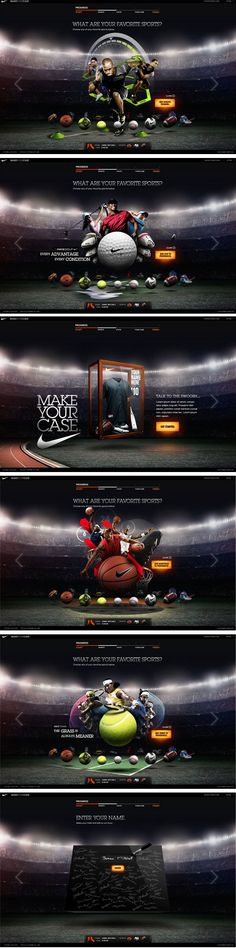 NIKE CRM Webdesign Inspiration Nike Outfits, Interface Web, User Interface Design, Website Layout, Web Layout, Web Sport, Design Creation, Sports Website, Marketing Digital