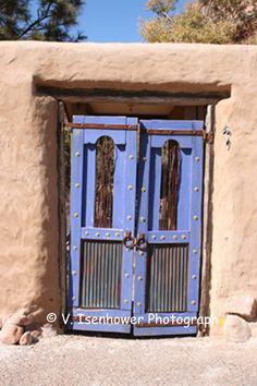 This blue door is near Jemez Springs, NM