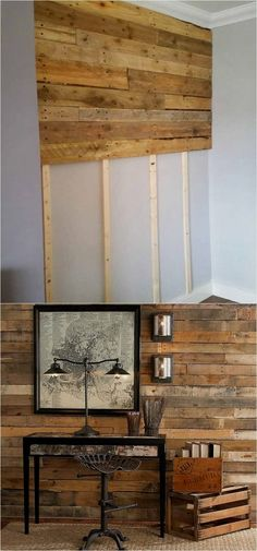30 best DIY shiplap wall and pallet wall tutorials and beautiful ideas for every room. Plus alternative methods to get the wood wall look easily! A Piece of Rainbow #palletprojects
