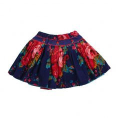 Oilily navy floral skirt