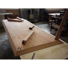 Twin tenons. Origami table. #furnituremakers #australiandesign