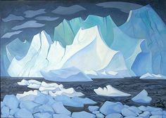 Fantasy Iceberg 1989 by Doris McCarthy Today I was reading Robert Genn 's newsletter, where a young woman from Brazil wrote. Canadian Painters, Canadian Artists, Abstract Landscape, Landscape Paintings, Oil Paintings, Dory, Art Google, Painting & Drawing, Oil On Canvas