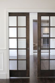 I like this color-Stained pocket doors
