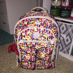 SAUSALITO KIPLING ROLLING BACKPACK SAUSALITO KIPLING ROLLING BACKPACK.      ‼️Like new only used 2 twice‼️ Kipling Bags Travel Bags