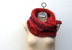 Made to Order Red Orange and Burgundy Multicolor Hand by AmyLaRoux, $55.00