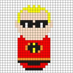 Mr Incredible - The Incredibles Perler Bead Pattern