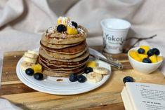 Speltpannekaker med Ricotta og spinat – Berit Nordstrand Ricotta, Frisk, Pancakes, Mango, Vegan, Baking, Breakfast, Food, Spinach
