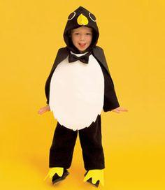 diy penguin costume per hendrix's halloween request - fish bucket for treat bag