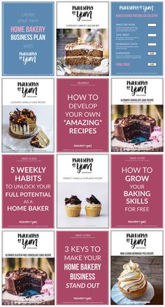 Want to start or grow your Home Bakery Business? Here's a free library full of resources, tips, tools and ideas to grow your Home Baking Business. Click through to access the free library! - Earn Money at home Bakery Business Plan, Baking Business, Cake Business, Food Business Ideas, Business Inspiration, Business Tips, Ultimate Vanilla Cake Recipe, Ultimate Chocolate Cake, Bakery Kitchen