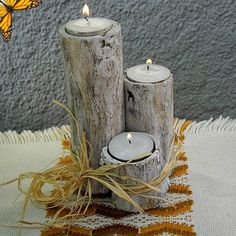Love this branch candle holder DIY from With a Blast!