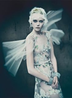 Haute Tension by Paolo Roversi for Vogue Italia's September 2011 Couture Supplement