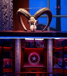 Here are just a few of the items from the Colbert Report that made it to Stephen Colbert's new studio