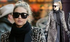 She's spending time with her family, during a winter break in Aspen. But Gigi Hadid proved she still has time for fashion, as she stepped out in the ski resort town on Monday in a leopard print coat.
