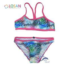 Bikini de niña juvenil LOSAN estampado multicolor
