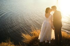 vintage wedding. sun flare.