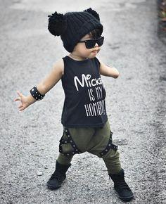 🖤❤️ Toddler Swag, Toddler Boy Fashion, Toddler Outfits, Baby Boy Outfits, Kids Fashion, Toddler Boys, Twin Toddlers, Cute Toddlers, Cute Little Boys