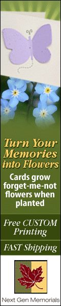 Plantable memorial seed cards, hand these cards and bookmarks out at the service and wildflowers will grow in memory of your loved one. #funeral #ideas #plantable #bookmarkers