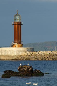 Faro de Alcabre, Vigo, Spain. Completed building the lighthouse  in 1887
