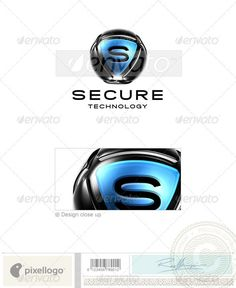 An excellent logo template suitable for internet, technology and security businesses.  This is a layered logo template and high re