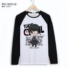 c1952fbc9 AnimeTown Tokyo Ghoul Cosplay Costume Anime Long Sleeves Tee T-Shirt