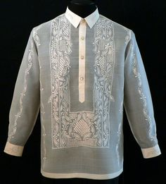 BARONG TAGALONG There's really something about the Barong Tagalog that appeals to unassuming, low-key personalities with a penchant for subtle elegance. Needless to say, the Barong Tagalog not only… Barong Tagalog Wedding, Barong Wedding, Philippines Outfit, Ethnic Fashion, Mens Fashion, Guy Fashion, Fashion Trends, Filipiniana Dress, Formal Dresses For Men